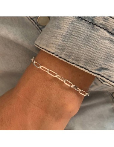 Silver 925 rectangle chain bracelet