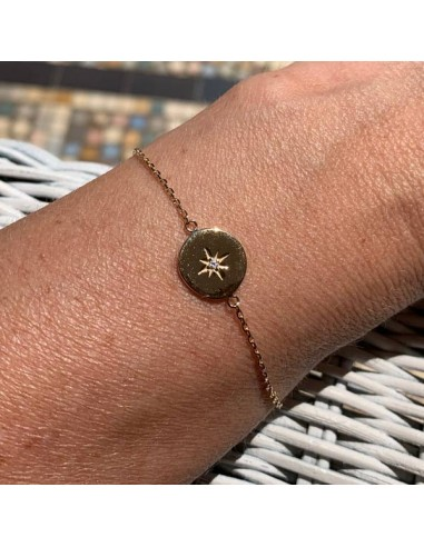 Gold plated pastille star zircon...
