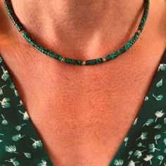 Malachite Heishi necklace