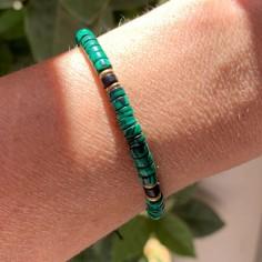 Malachite Heishi bracelet