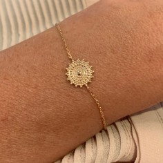 Gold plated beads sun star...