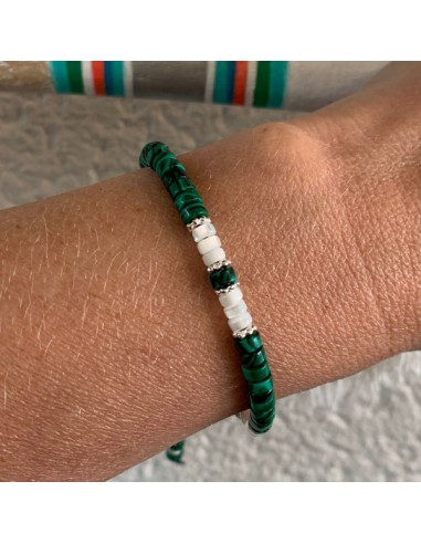 Malachite and white mother of pearl...