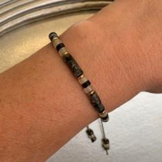 Bracelet Heishi labradorite...