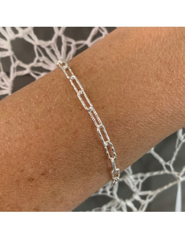 Silver 925 shiny rectangle chain...