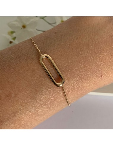 Gold plated sand link chain bracelet