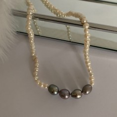 Necklace with white and...