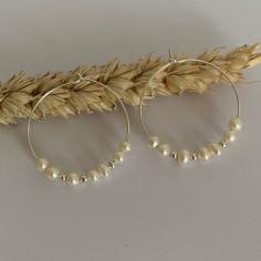 Silver 925 hoop earrings...
