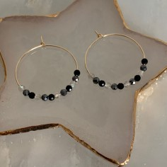 Gold plated hoop earrings...