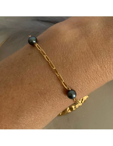 Gold plated rectangle chain bracelet...