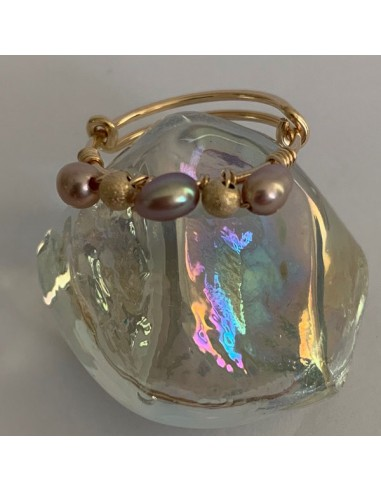 Gold filled thin ring with pink...