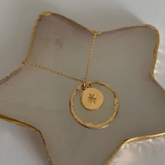 Gold plated pastille star...