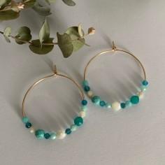 Gold plated hoop earrings...
