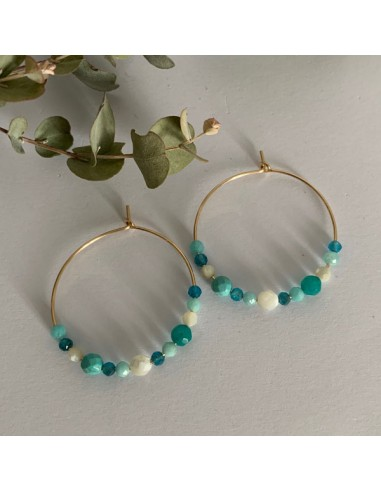 Gold plated hoop earrings with...