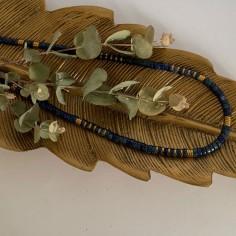 Lapis lazuli and hematite...