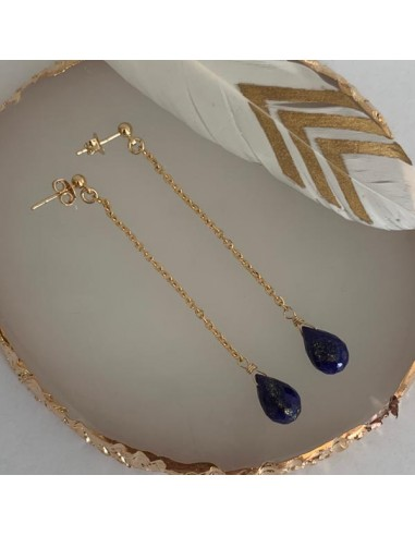 Gold plated lapis lazuli and chain...