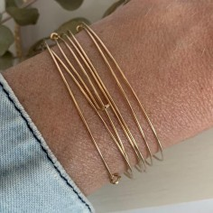 Gold filled thin bangles...
