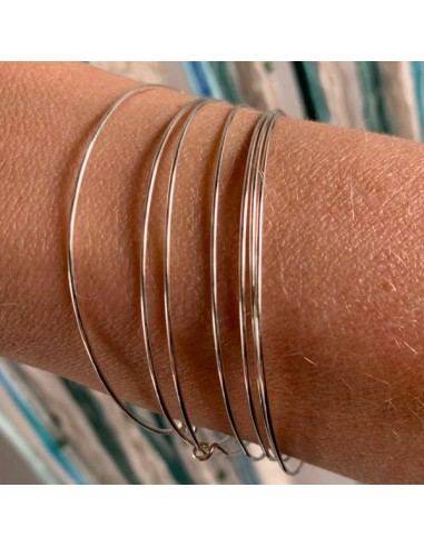Silver 925 thin bangles weekly bracelets