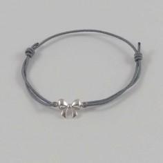 Bracelet cordon petit Noeud argent