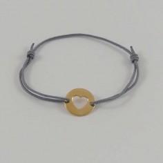 Bracelet Coeur plaqué or ajouré