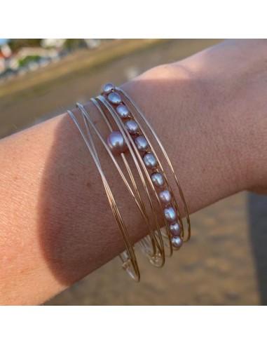 Gold filled 3 thin bangles bracelets