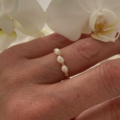 Gold filled thin ring with...