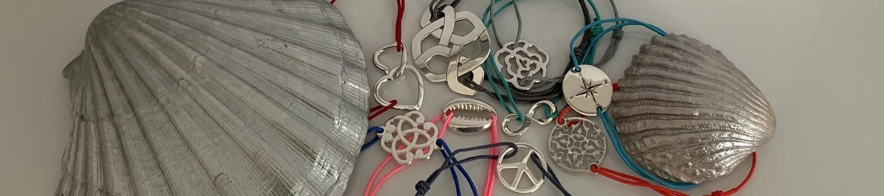 Bijoux Elise B bracelets cordon argent 925