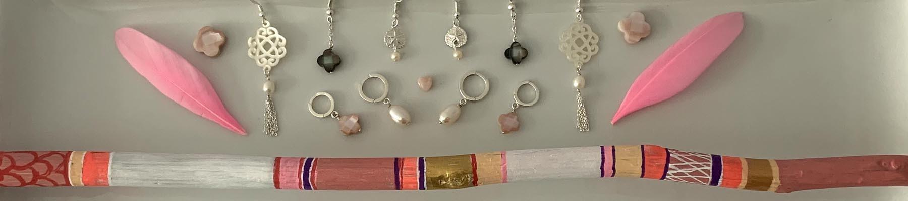 Bijoux Elise B boucles d'oreilles perle d'eau douce nacre argent 925