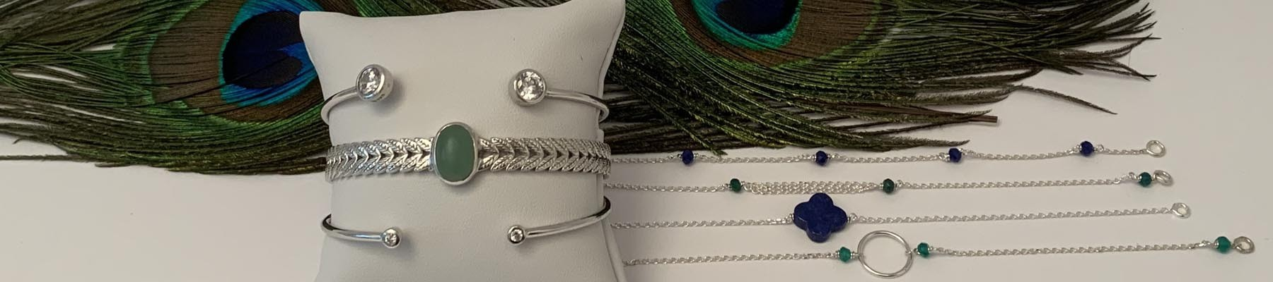Bijoux Elise B bracelets pierre fine argent 925