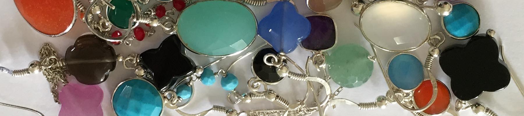 Bijoux Elise B boucles d'oreilles pierre fine argent 925