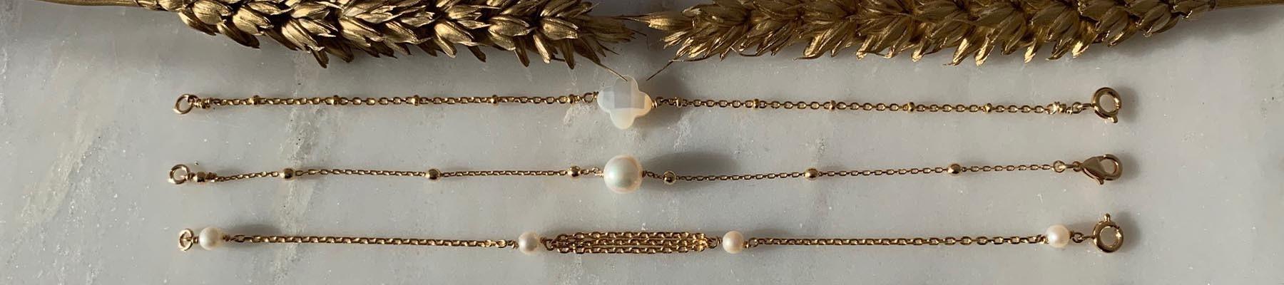 Bijoux Elise B bracelet chaine plaqué or