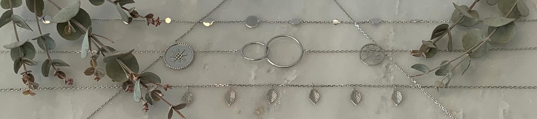 Bijoux Elise B collier argent 925
